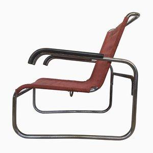 Bauhaus Chorme Modell B35 Armlehnstuhl von Marcel Breuer für Thonet, 1930er