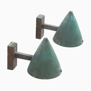 Swedish Outdoor Copper Sconces from Falkenbergs Belysning, 1960s, Set of 2