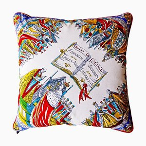 Vintage Queens of England Cushion, 1950s