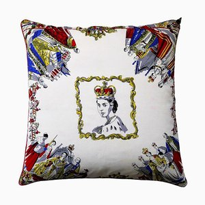 Vintage The Queens Canter Cushion, 1950s
