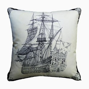 Vintage The Royal Ship Cushion
