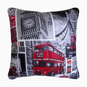 Vintage London Cushion, 1980s