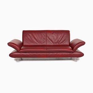 Rotes 3-Sitzer Rossini Ledersofa von Koinor