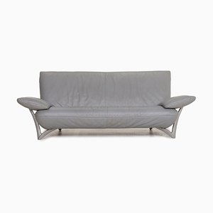 Gray Leather 2-Seater Sofa from Rolf Benz