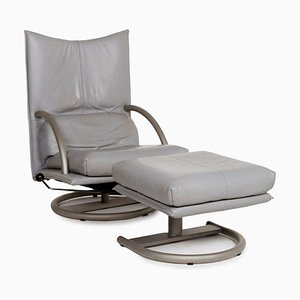Leather BMP Armchair and Footstool Set from Rolf Benz