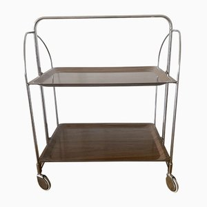 Dinette Tea Trolley with Brown Trays, 1970s