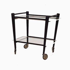Wood & Glass Trolley by Cees Braakman for Pastoe, the Netherlands, 1950s
