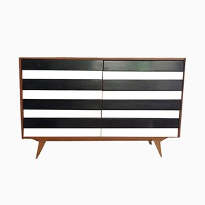 Trendy Black and White Sideboard, 1950s