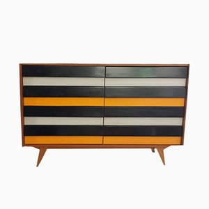 Trendy Black and Yellow Sideboard, 1950s