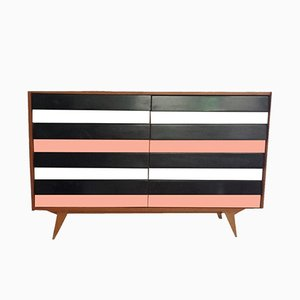 Trendy Black and Pink Sideboard, 1950s