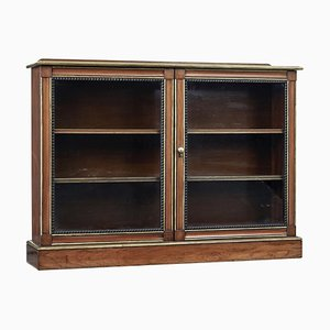 19th Century Walnut and Mahogany Aesthetic Movement Bookcase