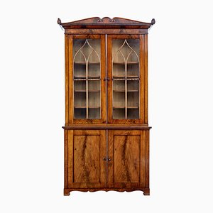 19th Century Flame Mahogany Bookcase