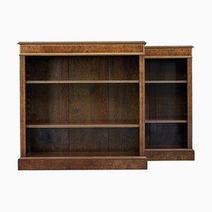 Niedrige offene Bücherregale aus Walnuss, 2er Set