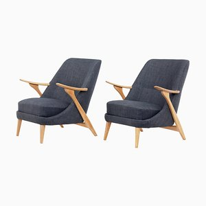Armchairs by Svante Skogh for Seffle Mobelfabrik, 1950s, Set of 2