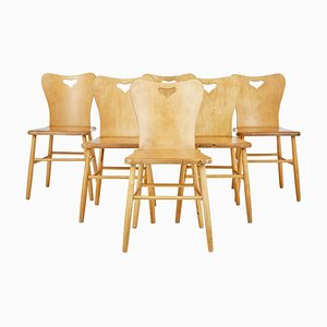 Scandinavian Pine Armchairs, 1960s, Set of 6