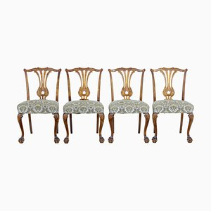 Chippendale Inspired Dining Chairs, 1960s, Set of 4