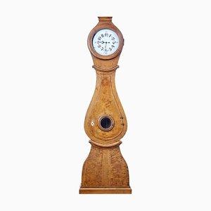 19th Century Swedish Birch Mora Longcase Clock