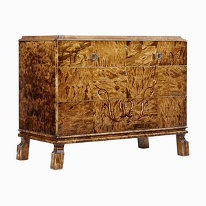 Scandinavian Art Deco Birch Inlaid Chest of Drawers