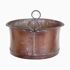 Large 19th Century Victorian Copper Cooking Vessel