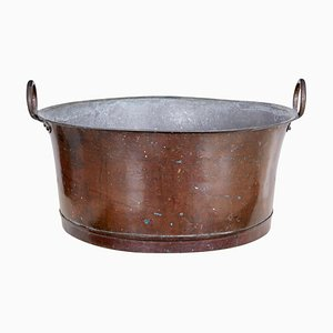 Large 19th Cetury Copper Cooking Vessel