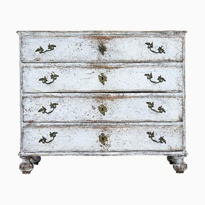 19th Century Scandinavian Baroque Painted Chest of Drawers