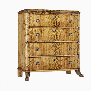 19th Century Karl Johan Period Birch Chest of Drawers