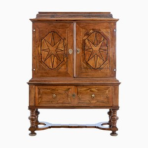 18th Century Swedish Baroque Walnut Cabinet