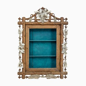 Small 19th Century Black Forest Display Cabinet