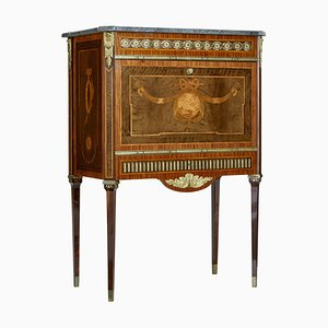 Swedish Inlaid Marble Top Secretaire, 1930s