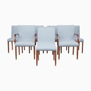 Scandinavian Teak Dining Chairs, 1940s, Set of 8