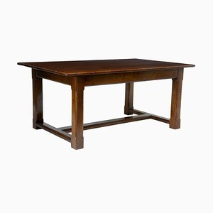 English Oak Refectory Table, 1950s