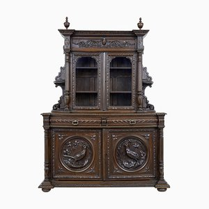19th Century Victorian Carved Oak Dresser