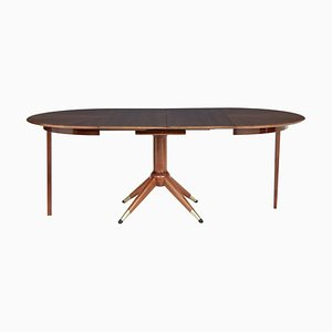Teak Extendable Dining Table by David Rosen, 1950s