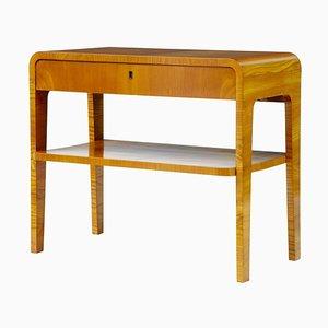 Art Deco Style Birch Nighstand, 1950s