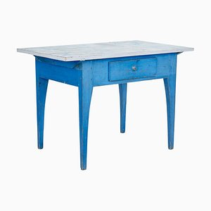 19th Century Swedish Traditional Rustic Painted Side Table