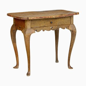 18th Century Rococo Elm Side Table