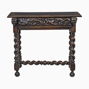 19th Century Flemish Carved Walnut Side Table