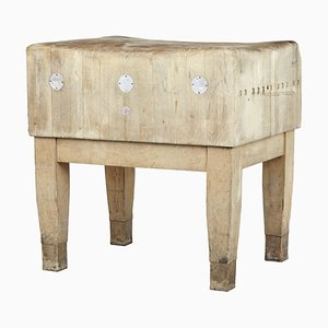 Vintage Swedish Freestanding Butchers Block