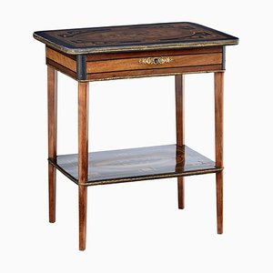 19th Century Mahogany Inlaid Ladies Worktable
