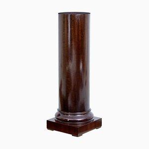 19th Century Mahogany Column Pedestal