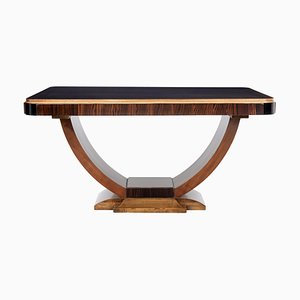 Large Art Deco Coromandel Center Table