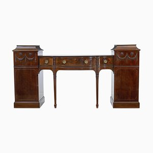 19th Century Carved Mahogany Pedestal Sideboard in the Adams Style