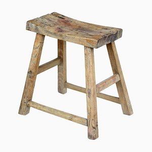 19th Century Chinese Rustic Hardwood Stool