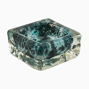 Mid-Century Green Blown Murano Glass Ashtray, 1960s