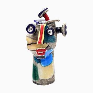Sculpture Tête Vintage en Verre Soufflé par Christoph Kiefhaber