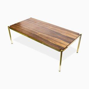 Tavolino da caffè in palissandro di Osvaldo Borsani per Tecno, anni '60