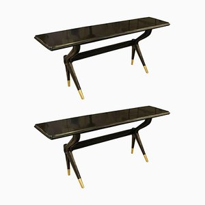 Console Tables Attributed to Ico Parisi, 1960s, Set of 2