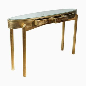 Gold Leaf Console Table, 1960s