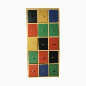 Mehrfarbiger Schrank, 1950er