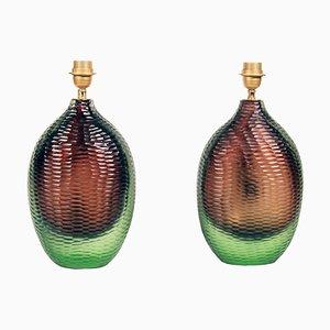Glas Tischlampen von Alberto Dona, 1980er, 2er Set
